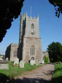 View of tower of St Mary's Church, Silverton